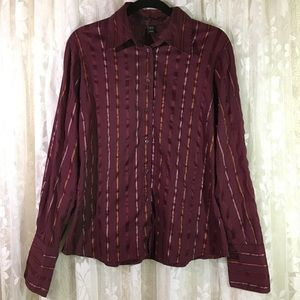 H&M Long Sleeve Striped Button Down Blouse